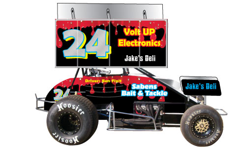 Sprint Car Side With Wing