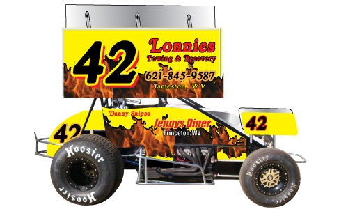 Sprint Car Side With Wing 2