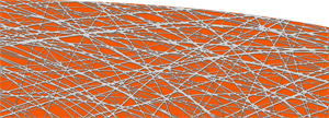 Custom Abstract Lines Orange Graphics