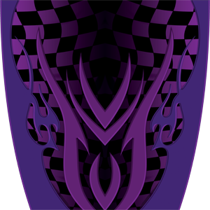 Custom Checkered Purple Graphics