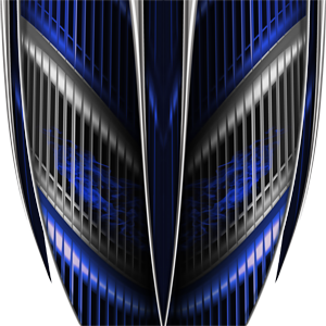 Custom Vigilante Blue Graphics