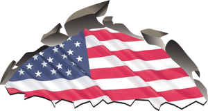 Custom American Flag Graphics