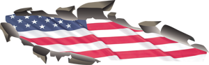 Custom Flag Rip Out Graphics