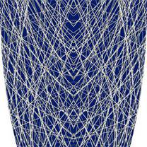 Custom Abstract Lines Blue Graphics