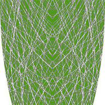 Custom Abstract Lines Green Graphics