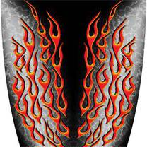 Custom Color Flame Black Graphics