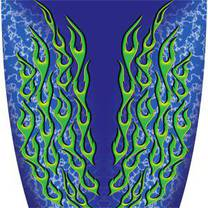 Custom Color Flame Blue Graphics