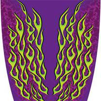 Custom Color Flame Purple Graphics