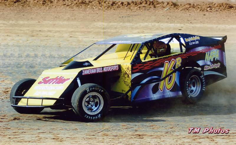 Awesome Black Dirt Modified With Race Car Graphics