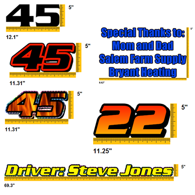 Race Car Lettering, Vinyl Lettering, Graphics